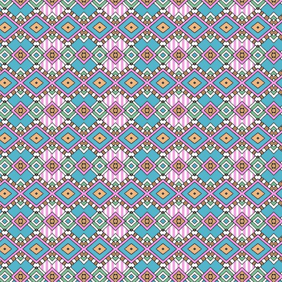 Funky Retro Pattern Art Print