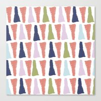 PAINT TRIANGLES Canvas Print