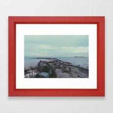 beachy. Framed Art Print