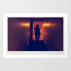downstairs girl Art Print