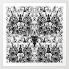 Triangulum Nigrum ad Mortem Art Print
