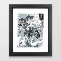 Curved Route Framed Art Print