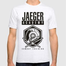 Jaeger Academy Mens Fitted Tee Ash Grey SMALL