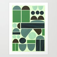 Town Hall (Green) Art Print