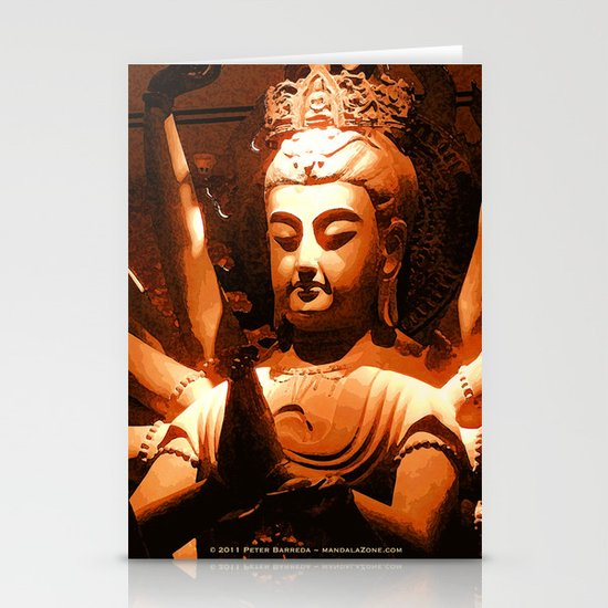 durga, indian goddess Stationery Card