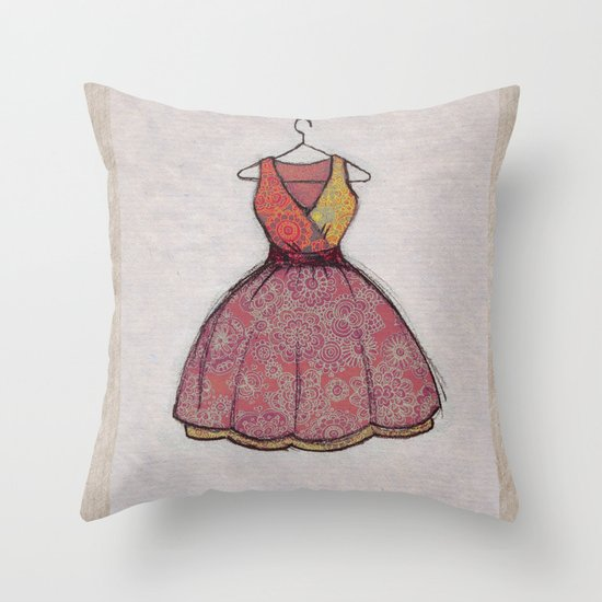 Put on your best dress... Throw Pillow