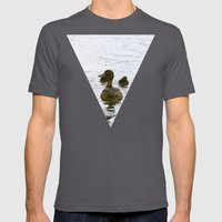 Ducklings In The Water Mens Fitted Tee Asphalt SMALL