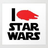 I Heart Star Wars Art Print