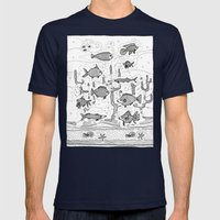 Diversity (underwater) Mens Fitted Tee Navy SMALL