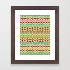 AZTEC Pattern 1-2 Framed Art Print
