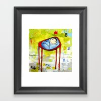 Baby In High Chair Framed Art Print