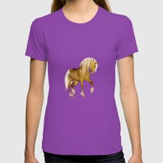 HORSE - Palomino Womens Fitted Tee Ultraviolet SMALL