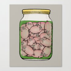 Pickled Pigs Canvas Print