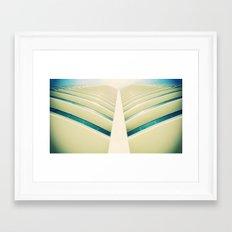 Building Window parted like the Sea Framed Art Print