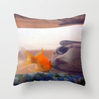 Fish in trouble Throw Pillow