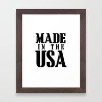 Made In The USA - Black … Framed Art Print