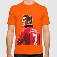 The Legend NO.7 Mens Fitted Tee Orange SMALL