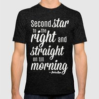 Peter Pan Quote Mens Fitted Tee Tri-Black SMALL