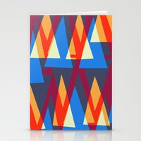 Up and Down Triangle Pattern Stationery Cards