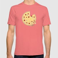 Pizza! Mens Fitted Tee Pomegranate SMALL