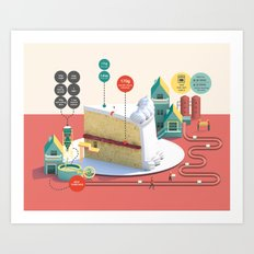 Imaginary Factory - Cake  Art Print