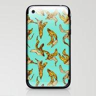 Banana Peel Pattern iPhone & iPod Skin