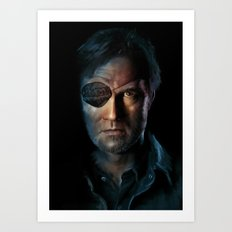 The Walking Dead - The Governor Art Print
