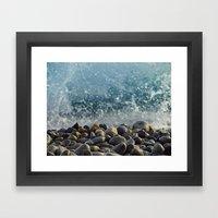 splash of waves Framed Art Print
