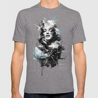 Marilyn. Mens Fitted Tee Tri-Grey SMALL