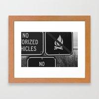 NO! Framed Art Print