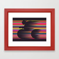 Olympic Cyclist Framed Art Print