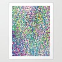 Mist Blue Art Print