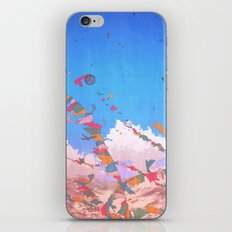 At the top of the world iPhone & iPod Skin