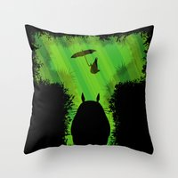 T For Totoro Throw Pillow