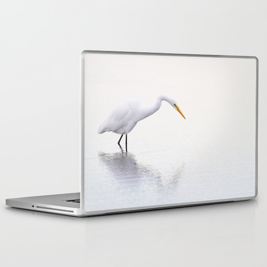 Stalking Egret Laptop & iPad Skin