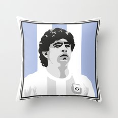 Maradona Throw Pillow