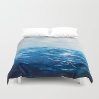 Paint 10 abstract water ocean seascape modern painting dorm room decor affordable stretched canvas Duvet Cover