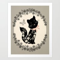 Art Print featuring SophistiCat by Monica Gifford