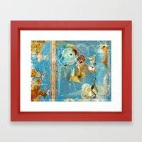 Cosmodigilogital Honey Framed Art Print
