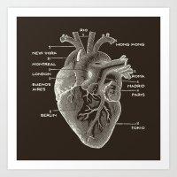 Nomad Heart Art Print
