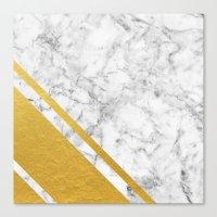 Gold Corner Marble Canvas Print