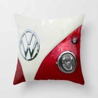 VW T2 Split Screen Throw Pillow