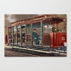 Old tramways VIII Canvas Print