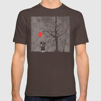 Lost In The Woods Mens Fitted Tee Brown SMALL