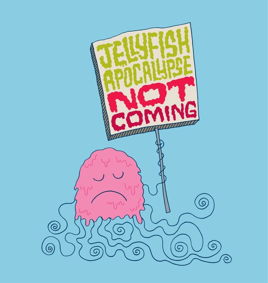 Jellyfish Apocalypse Not Coming Canvas Print