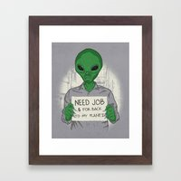 Jobless On Earth Framed Art Print