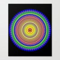 Carnival Mandala Canvas Print