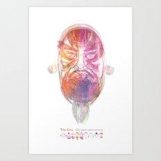 Characteristic Masks Art Print