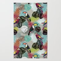 Tropical Birds (Color 2 - Bold) Rug