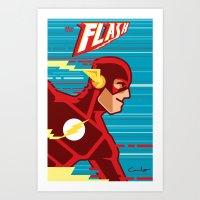 The FLASH! Art Print